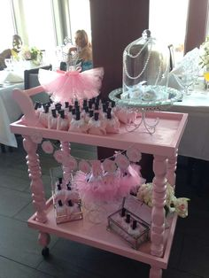 Ballerina baby shower decorations! See more party planning ideas at CatchMyParty.com!