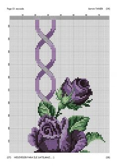 - Her Crochet Cross Stitch Rose, Cross Stitch Flowers, Cross Stitch Designs, Cross Stitch Patterns, Crochet Edging Patterns, Baby Dress Patterns, Free To Use Images, Fair Isle Pattern, Purple Roses