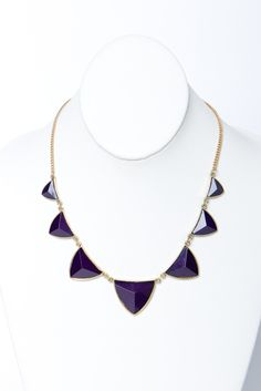 midnight purple point necklace