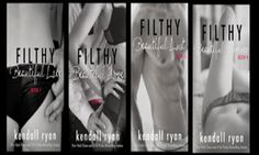 Românticos e Eróticos  Book: Kendall Ryan - Filthy Beautiful Lies #1 a #4