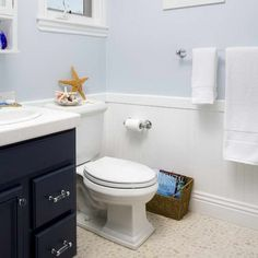 Wainscoting In Bathroom Ideas With Pale Blue Wall : Gorgeous How to end wainscoting in bathroom sink | Spotlats