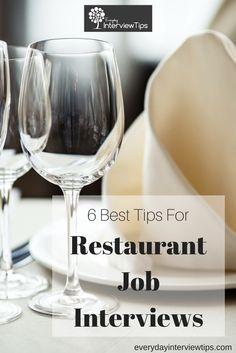 restaurant job interviews restaurant interview pinterest restaurant jobs and job interviews
