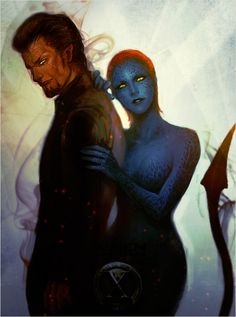 Azazle and Mystique are the couple to be.. as Azazle can transport himself…