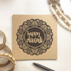 Cards, prints and more, inspired by Asian cultures by KushiyaDesigns Diy Diwali Cards, Handmade Diwali Greeting Cards, Diy Diwali Decorations, Diwali Diy, Diwali Gifts, Happy Diwali, Festival Decorations, Diwali Greetings, Diwali Wishes
