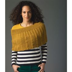 Free knitting pattern for textured Knit Poncho at Michaels (affiliate link)