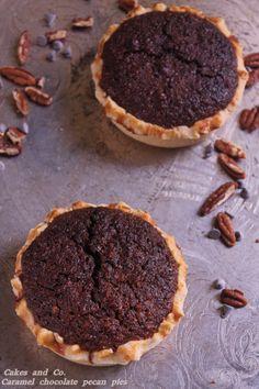 caramel chocolate pecan piesIMG_0054