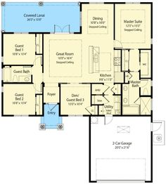 One Level Net Zero Living - 33119ZR | 1st Floor Master Suite, CAD Available, Den-Office-Library-Study, European, Mediterranean, Net Zero Ready, PDF, Photo Gallery, Southern, Split Bedrooms | Architectural Designs