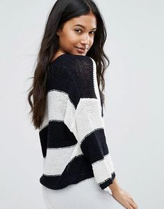 I love this stripes cozy jumper !