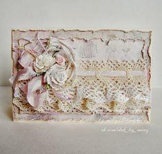 Итоги скетча для открытки №32 Scrapbook Canvas, Shabby Chic Cards, Cricut Cards, Beautiful Handmade Cards, Card Making Inspiration, Card Maker, Card Tags, Creative Cards, Vintage Cards