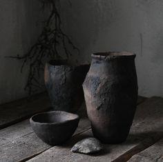 Zen of the dark. Wabi-sabi. Primitive ceramics