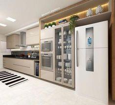 Modern Home Decor Kitchen Kitchen Room Design, Kitchen Cabinet Design, Kitchen Sets, Modern Kitchen Design, Home Decor Kitchen, Kitchen Furniture, Kitchen Interior, Home Interior Design, Home Kitchens