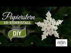 Sterne basteln: 3D Eiskristall-Weihnachtsstern - How-to | Deko Kitchen - YouTube