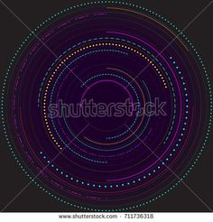 Colorful simple circle elements on black background. For Cover Report Annual Brochure, Flyer, Poster. Editable layout for presentation, website and print, magazine cover.