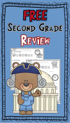 Math for second grade---counting money, telling time, addition & subtraction Second Grade Freebies, Second Grade Math, Grade 2, Math Resources, Math Activities, Go Math, Math Tutor, Primary Maths, Homeschool Math