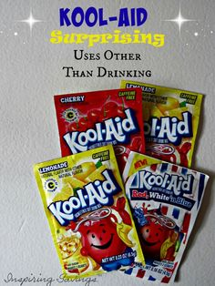 This post may contain affiliate links. When you use them, you help support this site. For more information, please read the Disclosure Policy. Kool-Aid Surprising Uses Other Than Drinking I often find packs of Kool-Aidon sale for just $0.20 each … Continue reading →