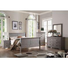 acme furniture louis philippe iii antique grey bedroom set