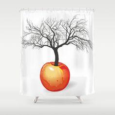 jabloň z ovoce Sprchový závěs