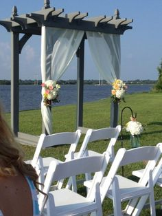1000 images about wedding pergola on pinterest pergola for Decorating a trellis for a wedding