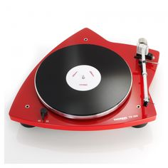 Thorens TD 209 Belt-Drive Turntable in Glossy Red for sale Vinyl Record Player, Record Players, Vinyl Records, Usb, Ipod, Hifi Turntable, Audio Store, Play That Funky Music, Retro Design