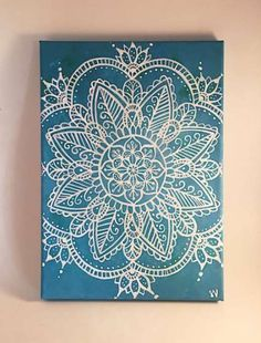 Mandala Canvas Painting Wall Art Wall Room Decor by MuseArtwork painting canvases backgrounds Your place to buy and sell all things handmade Mandalas Painting, Mandalas Drawing, Dot Painting, Diy Canvas, Acrylic Painting Canvas, Canvas Wall Art, Canvas Paintings, Canvas Background, Mandala Canvas