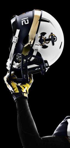 KEWLEST. FOOTBALL. HELMET. EVER! 2012 Army-Navy Game helmet worn by USNA Midshipmen...