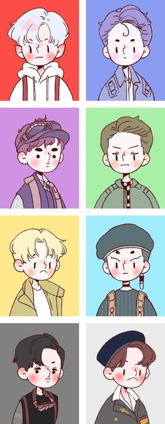 When you know you suck at art so you look at other peoples are and cry Exo Cartoon, Cartoon Art, Kpop Exo, Sehun, Wallpaper Iphone Cute, Cute Wallpapers, Kpop Anime, Exo Stickers, Chibi