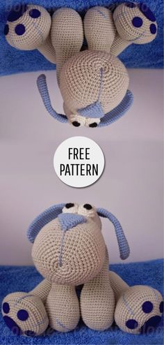 Mesmerizing Crochet an Amigurumi Rabbit Ideas. Lovely Crochet an Amigurumi Rabbit Ideas. Crochet Crafts, Crochet Dolls, Crochet Baby, Crochet Projects, Free Crochet, Crochet Dog Patterns, Amigurumi Patterns, Amigurumi Tutorial, Articles Pour Enfants