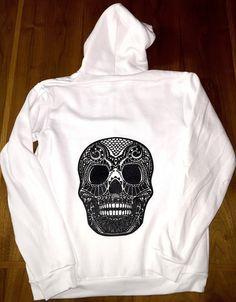 White ElectroSkull Zip-up