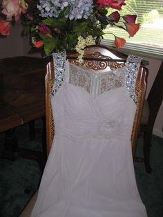 Elegant Custom Made Full Length Gray Chiffon/Lace Beaded Full Length Formal Gown
