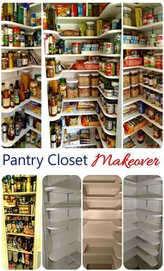 My kitchen pantry was a closet sized area suffed to the gills. I could not find a single thing in it. My husband and I turned it into a mini walk in pantry by reconfiguring the shelves and adding extra shelving up the way. I can not find my supplies!