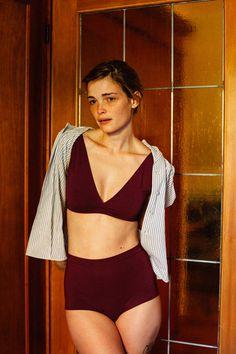 9e437b965c High Waist Panty Merlot Bamboo Organic Cotton by hannabroer Beautiful Women  Pictures