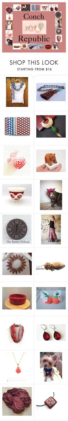 """Conch Republic: Handmade & Vintage Gift Ideas"" by paulinemcewen ❤ liked on Polyvore featuring Dollhouse, Hostess, rustic and vintage"