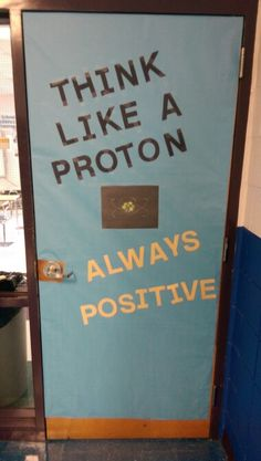 Science classroom door decorations