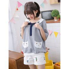 Cute Neko Pocket Top