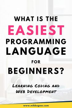 Learn how to find the easiest programming language for beginners right now to start learning coding faster and more easily. Top Programming Languages, Coding Languages, Learn Programming, Computer Programming, Learn Computer Coding, Learn Computer Science, Learn Coding, Learning Web, Learning Resources