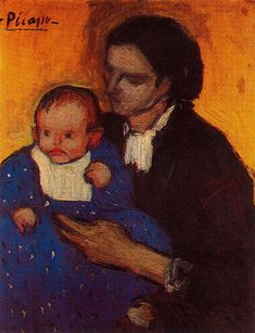 Pablo Picasso - Mother and child, 1901 Pablo Picasso, Kunst Picasso, Picasso Art, Picasso Paintings, Picasso Style, Spanish Painters, Spanish Artists, Prado, Picasso Blue Period