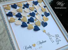 Custom Wedding Guest Book Alternative Navy and by WeddingUkraine