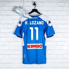 "After a successful three seasons with PSV Eindhoven, ""Chucky"" Lozano joined Napoli in 2019 as the most expensive Mexican player of all time. Cheer the new Blue. Club Soccer, Carlo Ancelotti, Soccer Jerseys, Chucky, All About Time, Cheer, Mexican, Seasons, Blue"