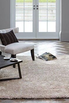 Teppich Wohnzimmer Carpet hochflor Design DIVA SHAGGY RUG 100% Polyester 60x120 cm Rechteckig Ecru   Teppiche günstig online kaufen https://www.amazon.de/dp/B017KNEPLY