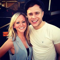 Ciara with UK star Olly Murs