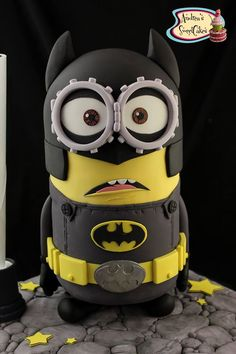 Minion Batman cake - For all your cake decorating supplies, please visit craftcompany.co.uk