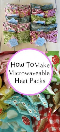How to Make Microwaveable Heat Packs - Get the fabric here: www.bandjfabrics.com
