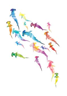 stencils & watercolors - could be done with anything, birds, flowers, ANYTHING.