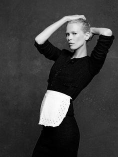 Claudia Schiffer in THE LITTLE BLACK JACKET - CHANEL ONLINE EXHIBITION. #chanel #littleblackjacket