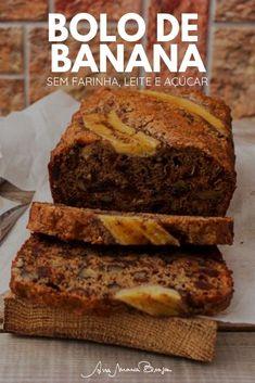Best Banana Bread, Banana Bread Recipes, Low Carb Recipes, Cooking Recipes, Confort Food, True Food, Sweet Recipes, Good Food, Food And Drink