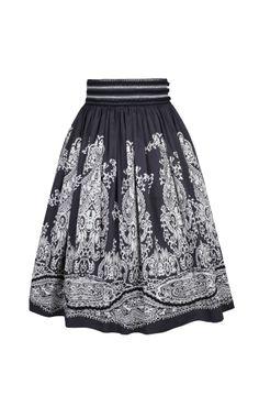Lena Hoschek: Spring/Summer 2013 Collection--Calavera Skirt black white