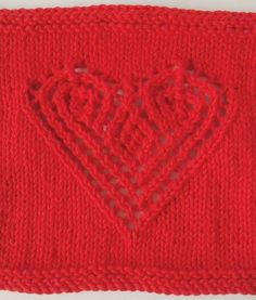 Filigree Heart Washcloth Filigree Heart by SweetPeaKnittingShop