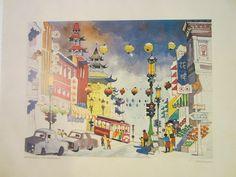 Dong Kingman Chinatown San Francisco Copyright 1979 Benihana Tokyo Inc – Designer Unique Finds