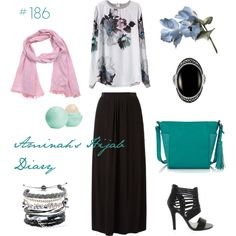 Aminah´s Hijab Diary #hijab #muslimah #modest #fashion #style #look #outfit #oodt #skirt #black #white