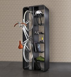 great way to store a bike and bike accessories